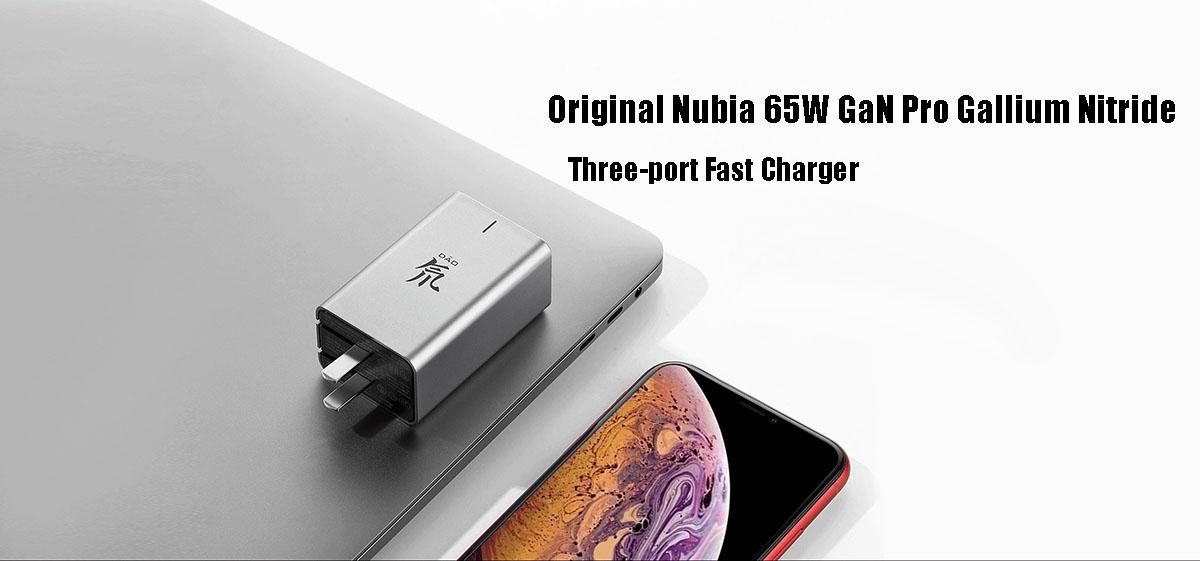 Nubia 65W GaN Pro Gallium Nitride Three-port Fast Charger