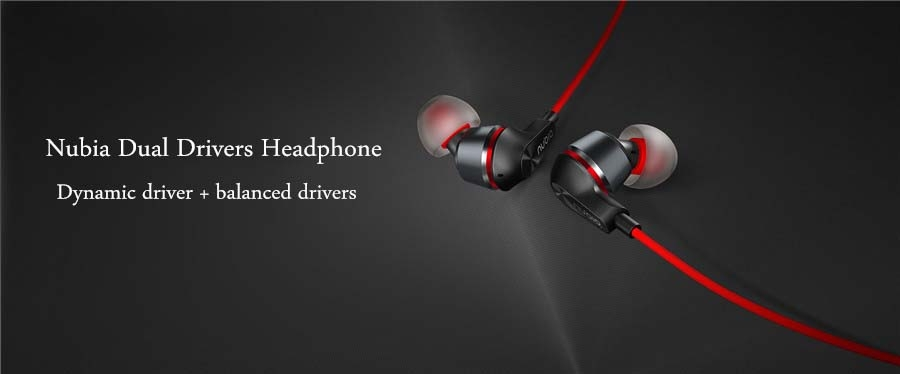 Original Nubia Hybrid Balanced Drivers Wired Control Earphone With Mic